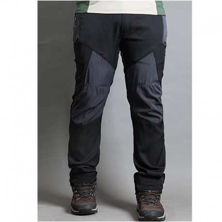 men's hiking pants solid knee patch trousers