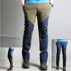 pánske turistické nohavice diagonálny zips nohavice