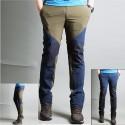 męskie spodnie na piesze wędrówki ukośne zamek błyskawiczny spodnie