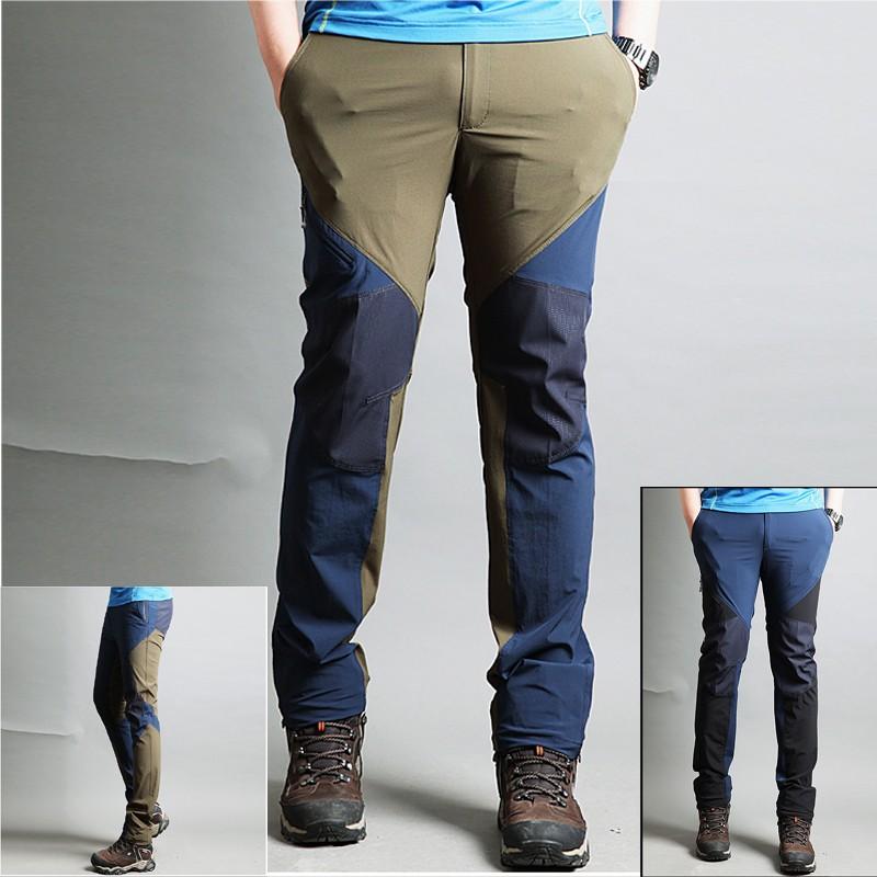 07dcd46c97d9 pánske turistické nohavice diagonálny zips nohavice