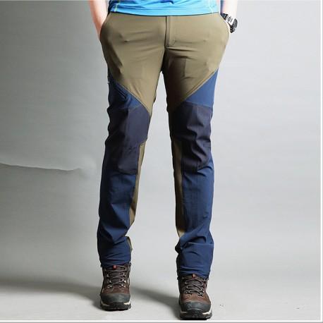 pánské turistické kalhoty diagonální zip kalhoty