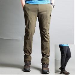 vīriešu pārgājienu bikses kravas sānu kabatas bikses