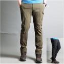 pánske turistické nohavice cargo bočnom vrecku nohavíc