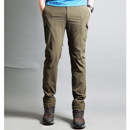 men's hiking pants cargo side pocket trousers